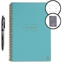 Rocketbook - Cuaderno de espiral reutilizable borrable, Azul claro, Ejecutivo