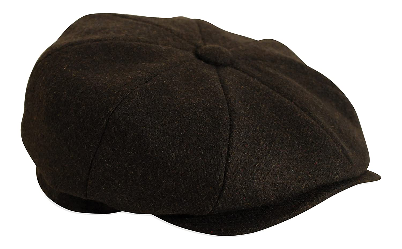 Gamble /& Gunn  Shelby  Black Herringbone Button Top Cap