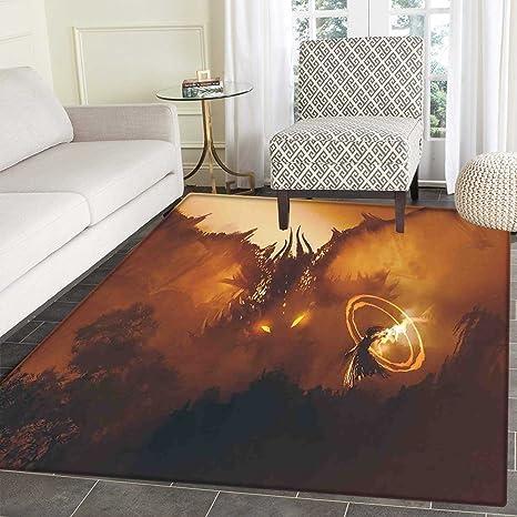 Amazon Fantasy Small Rug Carpet Calling Of The Dragon Magician