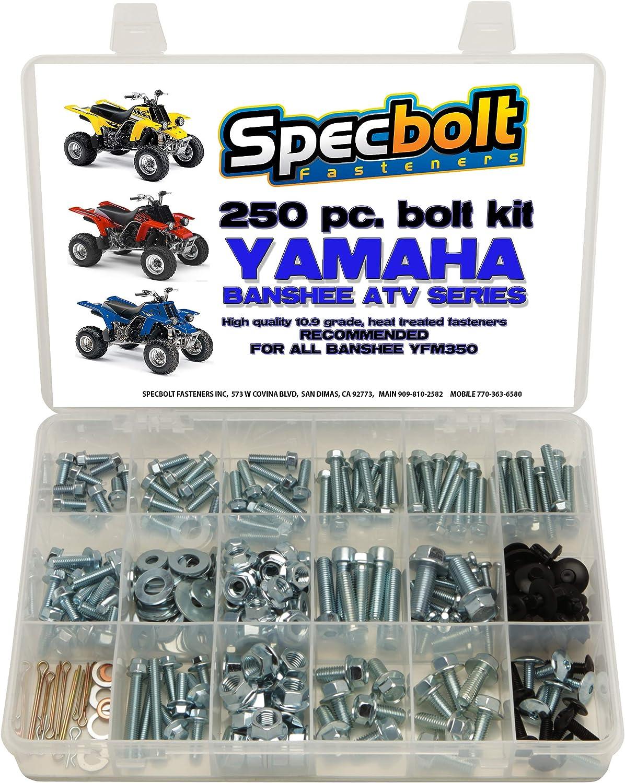 Yamaha Warrior YFM350X Polished High Strength Stainless ATV Foot Pegs Bolt Kit