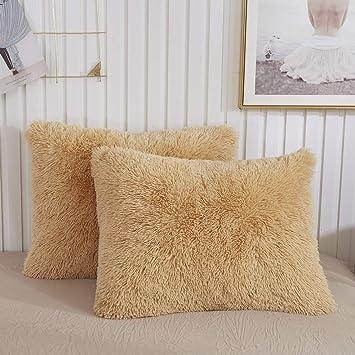Amazon.com: CHENFENG - Fundas de almohada de felpa, ultra ...