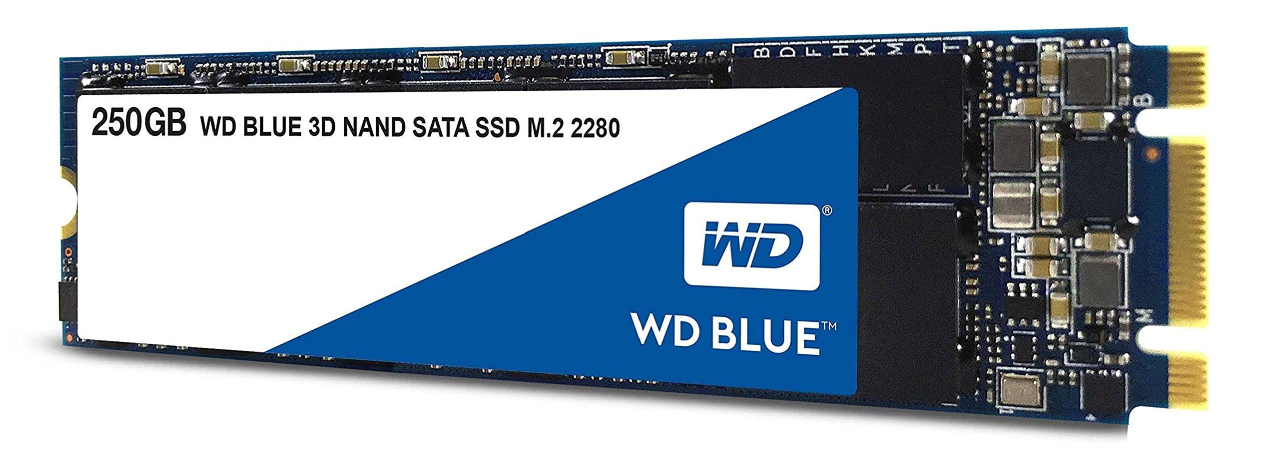 WD Blue 3D NAND 250GB PC SSD - SATA III 6 Gb/s M.2 2280 Solid State Drive - WDS250G2B0B by Western Digital