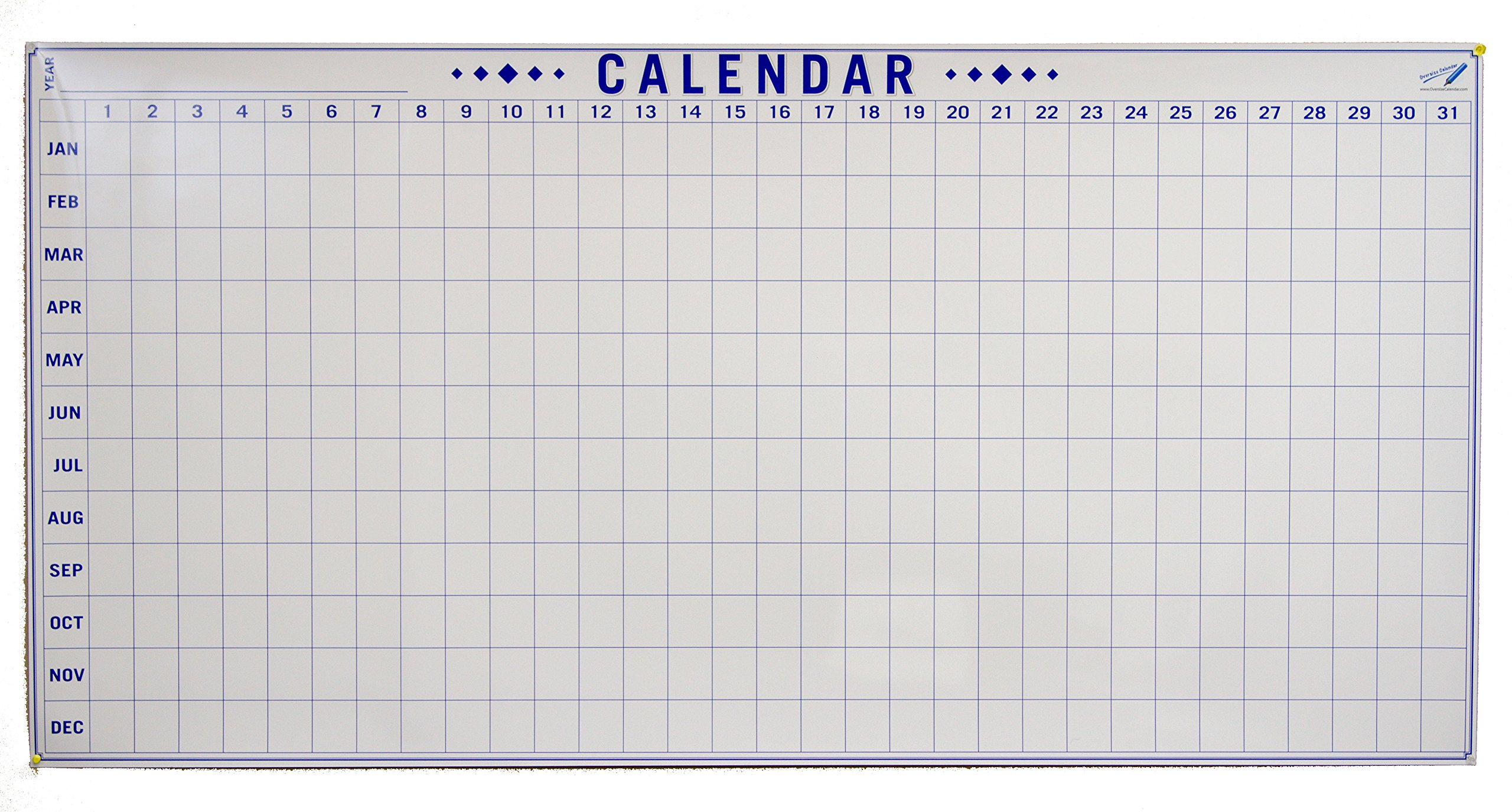Dry Erase Julian Date Calendar - 36 x 72 Large Dry Erase Wall Calendar - Large Wall Calendar - Reusable Annual Calendar - Wall Planner with Vertical Dates and Horizontal Months by Oversize Planner by ABI Digital Solutions (Image #5)