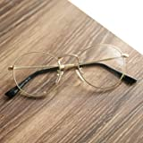 Pro Acme Classic Round Metal Clear Lens Glasses