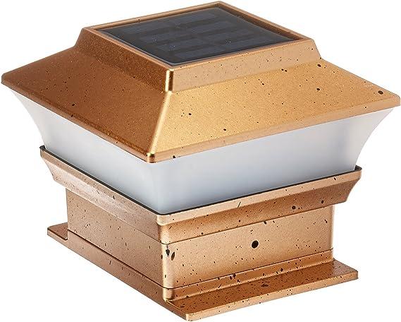 PL244 4x4 Wood Posts Only 18 Solar Fence Cap Post Lights Copper Color