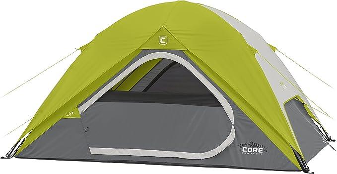 Core Equipment Core 4 Person Instant Dome Tent - 9' x 7', Green