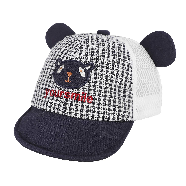 Newborn Baby Boys Girls Baseball Cap Adjustable Stripe Hat Pure Cotton Hat Sun Protection Summer Headwear Sun Hats for Kids 3-12 Months