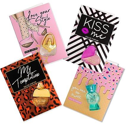 Flor de Mayo, Perfume Cards, Set de 4 Tarjetas Regalo con ...