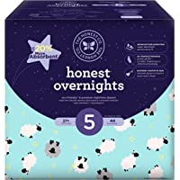 Honest Overnight Baby Diapers, Club Box, Sleepy Sheep, Size 5, 44 Count