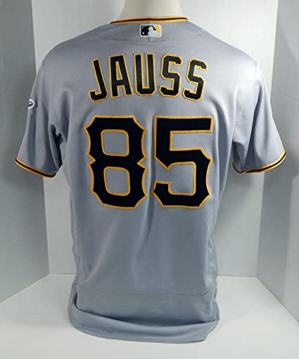 19c6e1e6eaa Image Unavailable. Image not available for. Color  2017 Pittsburgh Pirates  Dave Jauss  85 Game Used Gray Jersey ...