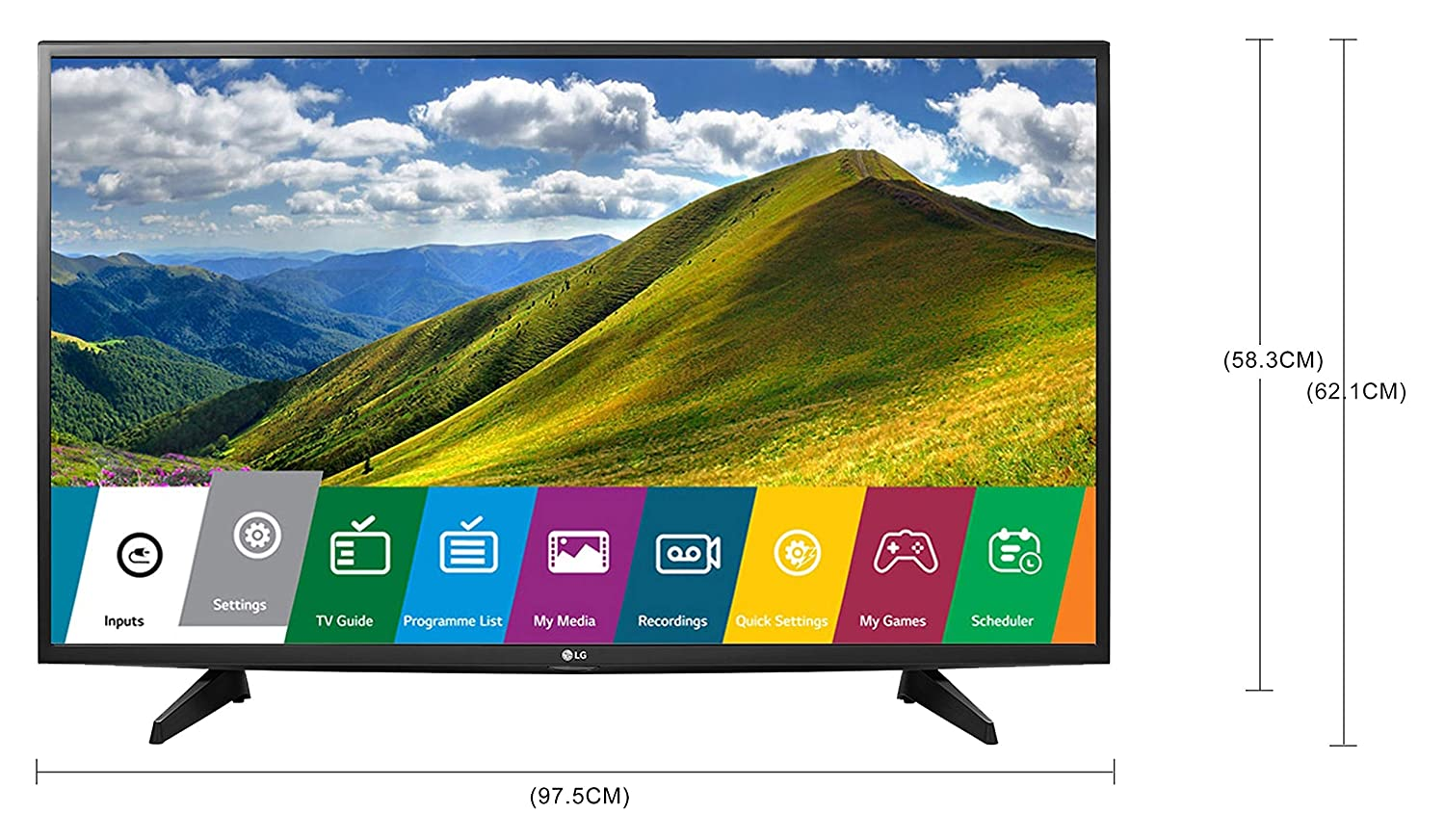 0f707cfeb2e LG 108 cm 43LJ525T Full HD LED TV  Amazon.in  Electronics