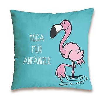 NICI 41942 Flamingo Cojín de algodón Yoga para Principiantes ...