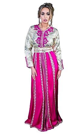 Takchita marocaine Zephyr en brocard et charmeuse brodée mariage marocain bc202ae43da