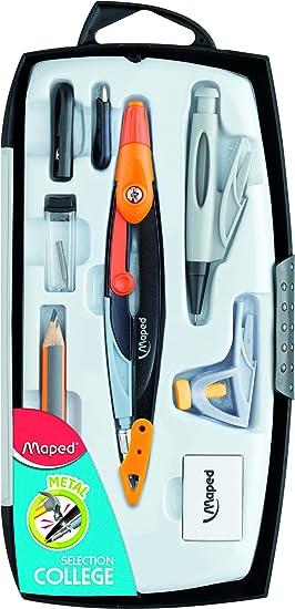 Maped Metal Open 036908 estuche con compás 8 piezas