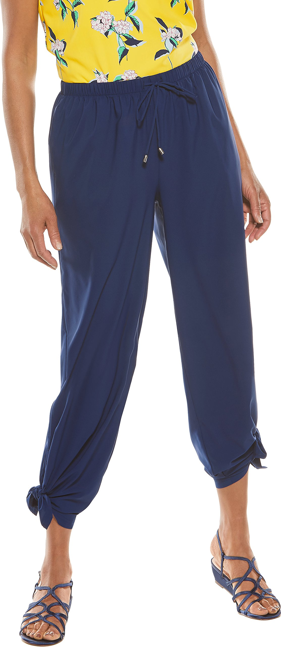 Coolibar UPF 50+ Women's Wide Leg Petra Pant - Sun Protective (XX-Large- Royal Navy) by Coolibar (Image #1)