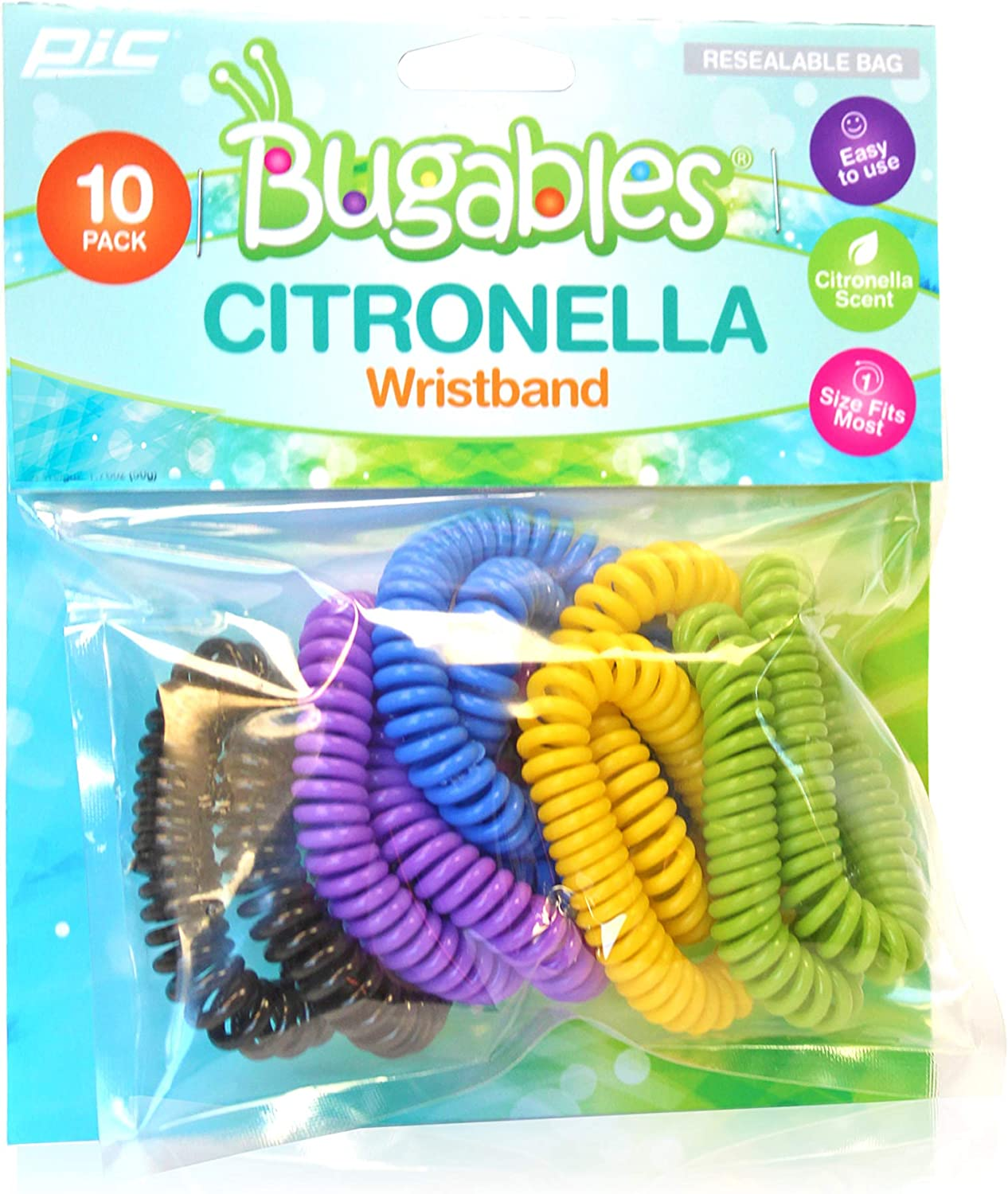 PIC Bugables Citronella Coil Wristbands (Pack of 10)