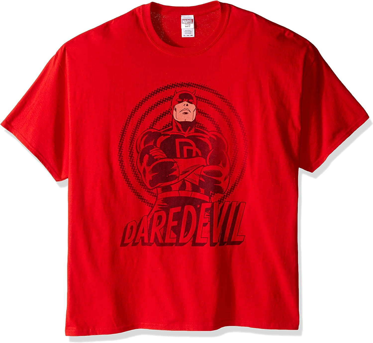 New Marvel Dare Devil Men/'s Short Sleeve Black T-Shirt