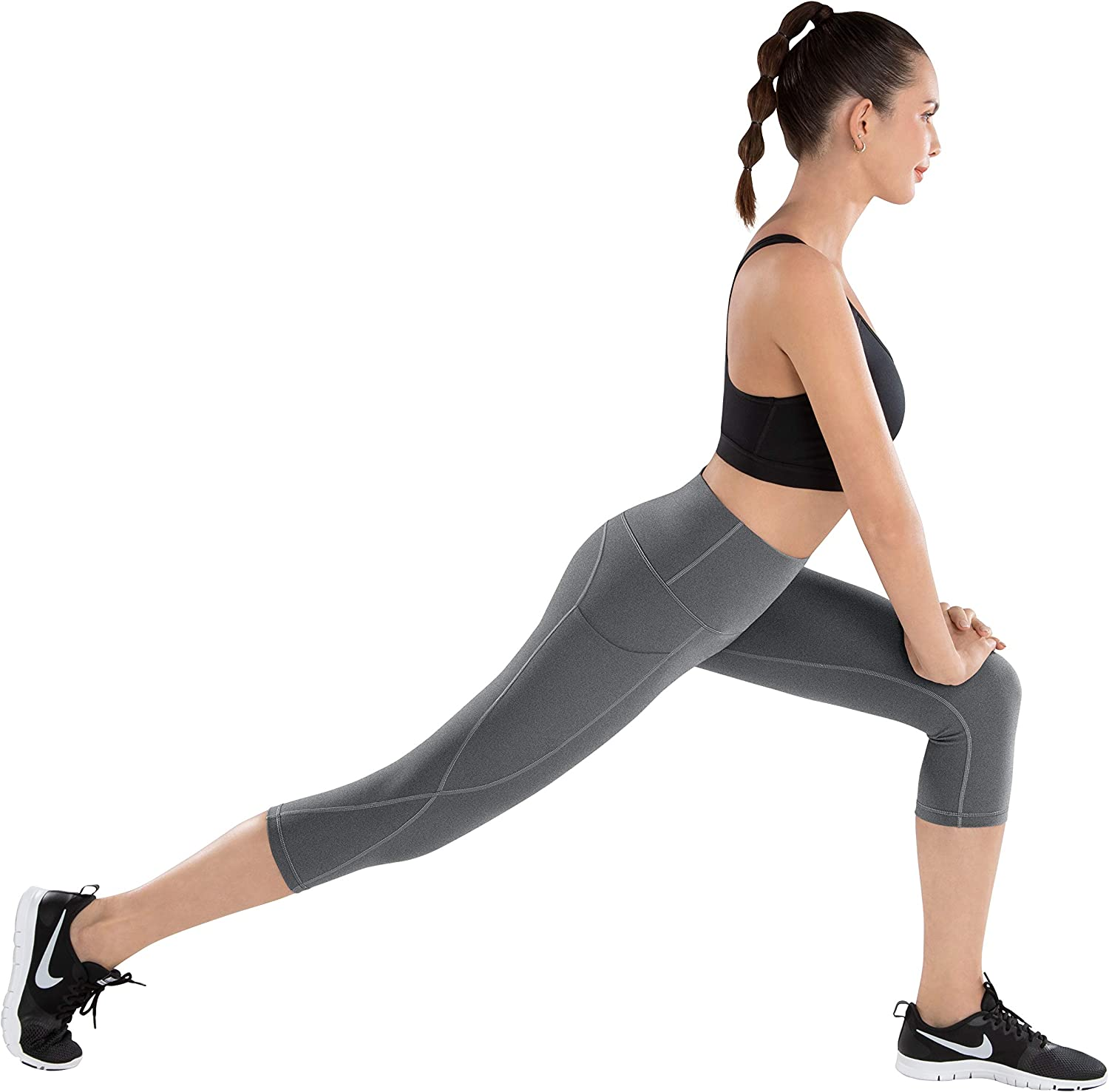 LifeSky Yoga Pants with Pockets High Waisted Tummy Control Leggings 4 Way Stretch Workout Pants