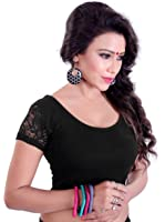 Vibes Designer Full Stitched Stretchable free size Saree Blouse (With Net Sleeves)