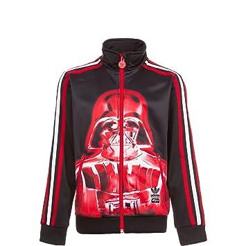 adidas Jungen Kinder Zipper Star Wars Firebird Trainingsjacke Kinder,  schwarz / rot, 92,