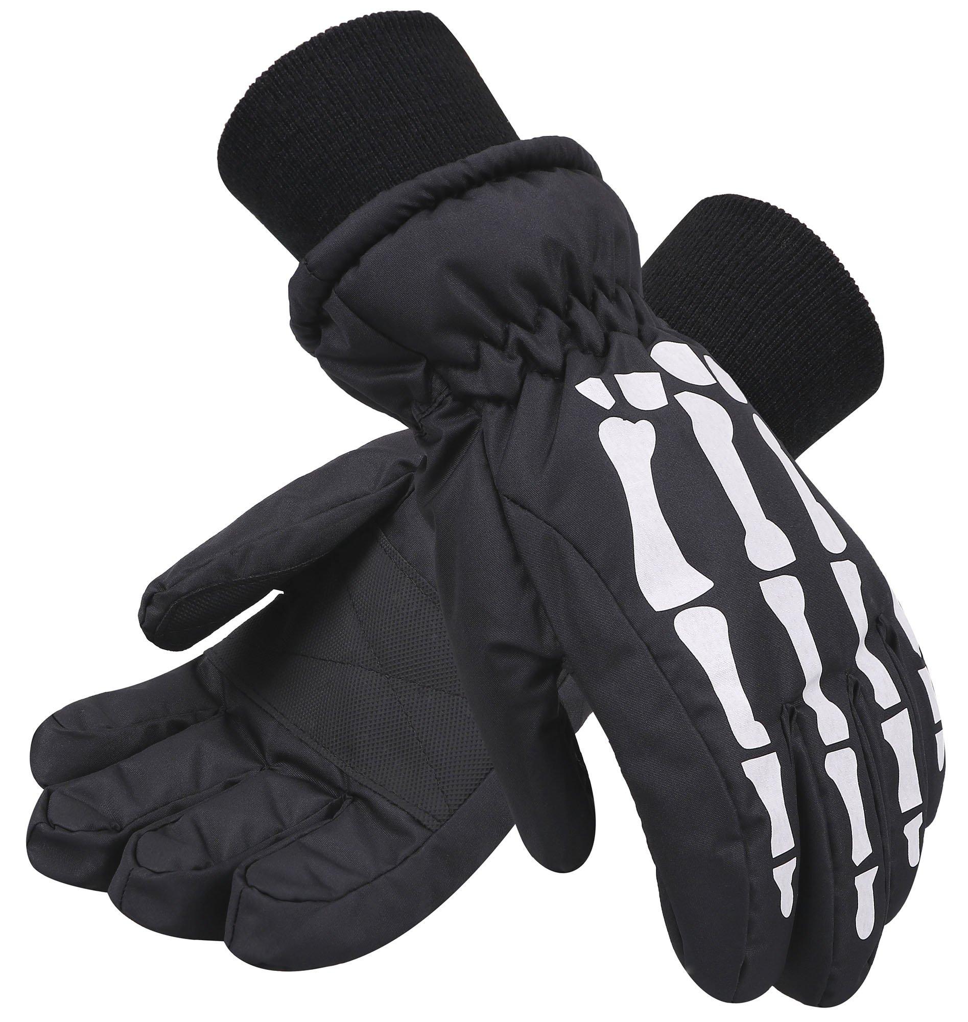 AbbyLexi Kids Boy's & Girl's Winter Thinsulate Lined Ski & Snowboard Gloves
