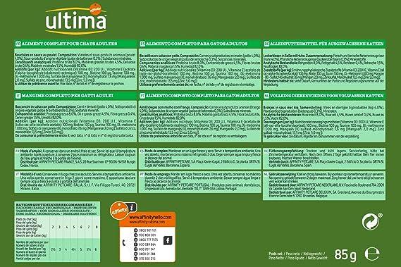 Ultima Comida Húmeda para Gatos Tracto Urinario - 85 gr: Amazon.es: Productos para mascotas