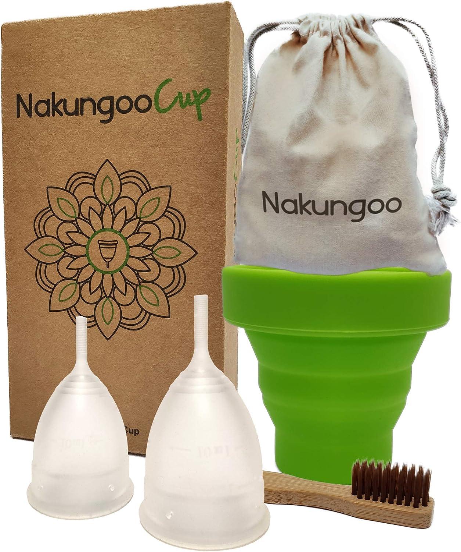 NakungooCup Copa Menstrual Kit Suave Organica Certificado 2 Copas ...