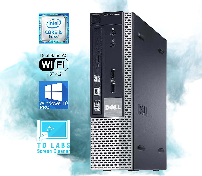 Dell Optiplex 9020 USFF Desktop - Intel i5-4570 Upto 3.6GHz, HD Graphics 4600 4K Support, 16GB RAM, 512GB SSD, DisplayPort, HDMI, DVD, AC Wi-Fi, Bluetooth, TDL - Windows 10 Pro (RENEWED)