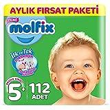 Molfix Bebek Bezi 5+ Beden Junior Plus Aylık Fırsat Paketi 112 Adet