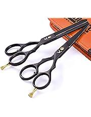 "Professional Hair Cutting Scissors Shears Set Hairdressing Thinning Trimming Texturizing Barber Salon Razor Edge tools Kit Stainless Steel (5.5"")"