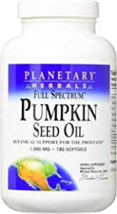 PLANETARY HERBALS Pumpkin Seed Oil Full Spectrum Botanical Support for The Prostate, 180 Count