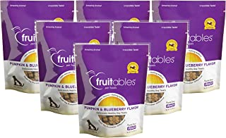 product image for Fruitables Pumpkin & Blueberry Crunchy Dog Treats, 7oz Pouch (Pack of 6)