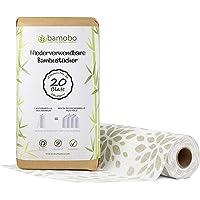 Rollo de cocina de bambú 100%. Paños