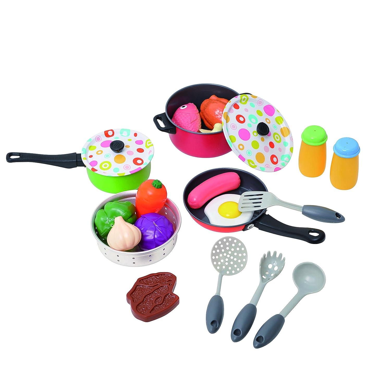 Spielgeschirr Metall - Playgo Küchenspielzeug
