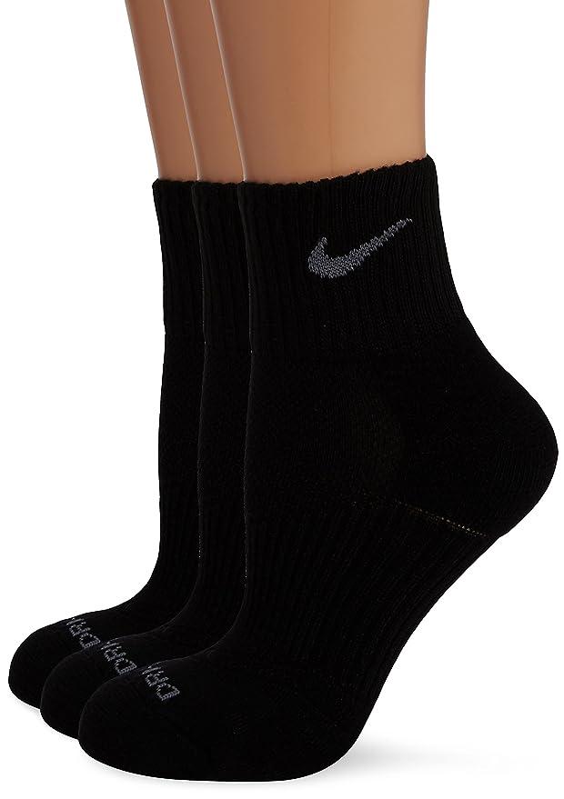 Nike Dri Fit Cushion Quarter Socks Pack of 3 B00IYROQ7Y