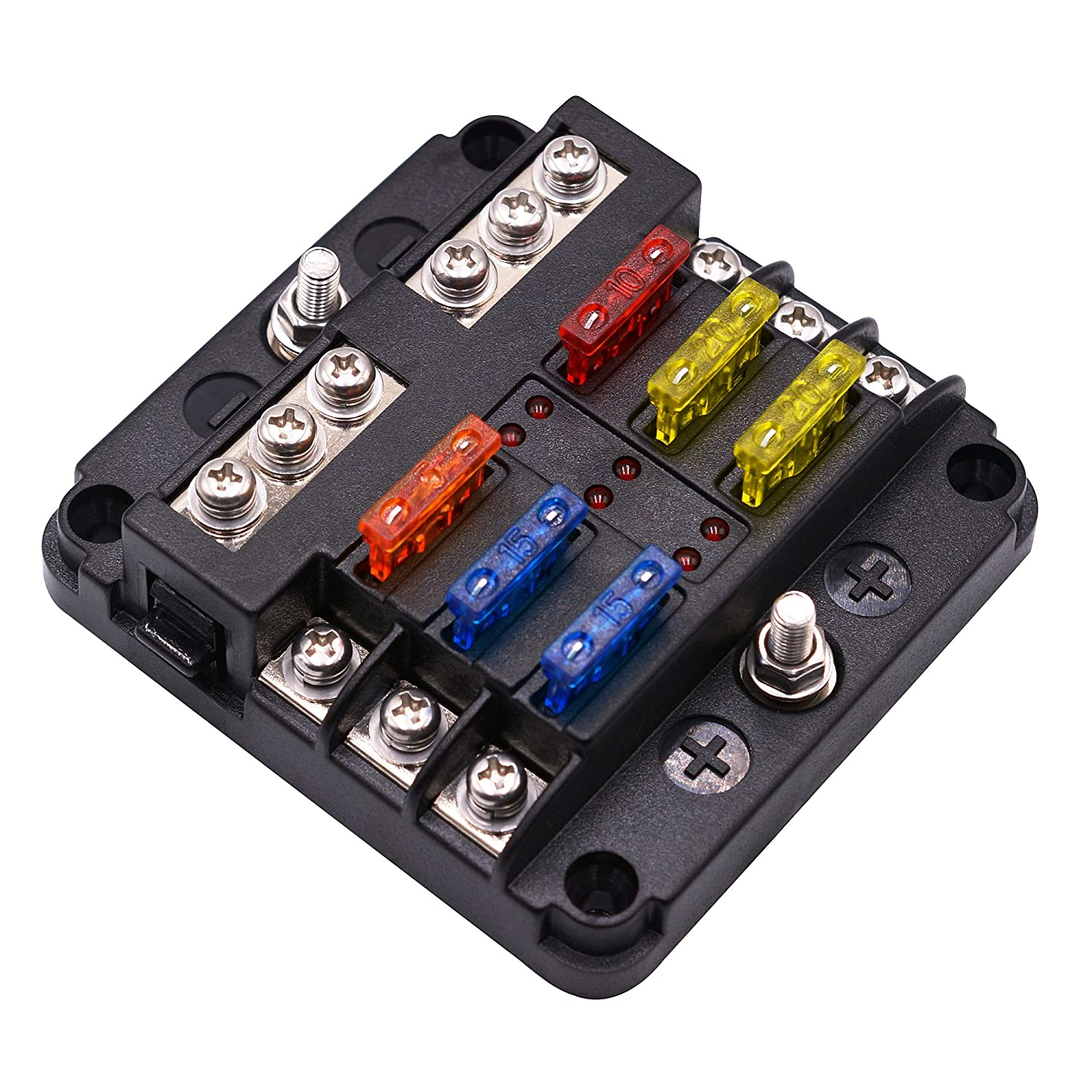Bluefire Blade Fuse Box Holder Standard Circuit Rv Block With Led