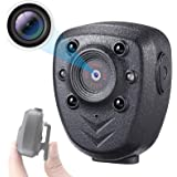 Mini Body Camera Built-in 32GB Memory Card, Small Wearable Police Cam with Night Vision, HD1080P, Pocket Clip, 5 Hours…