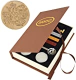 SAMYO Classic Sealing Wax Seal Stamp Vintage Old-Fashioned Antique Brass Pattern Creative Romantic Stamp Maker for…