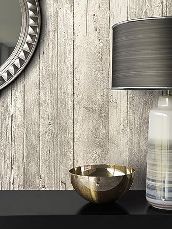 Tapete Vlies Antik Holz Muster In Weiß Grau | Schöne Edle Tapete Im  Antikholz Design |