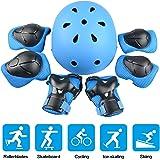 JIM'S STORE Set di Casco Ginocchiere per Bambini 7PCS Set di Casco, Ginocchiere, Gomitiere e Protezione Polso Set di Attrezzi protettivi Sportivi per Hoverboard, Scooter, BMX e Bicicletta