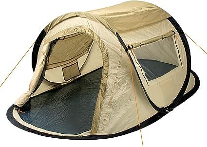 CampFeuer Wurfzelt Quiki I 2 Personen Quicktent I Campingzelt für Festival und mehr I wasserabweisend I Pop Up Zelt (CremeBeige)