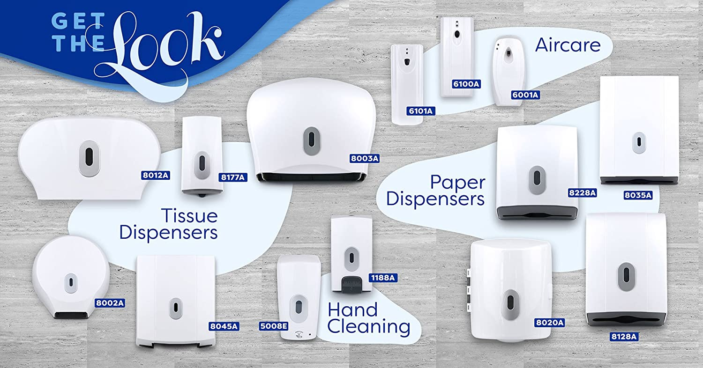 Bulk Pack Inter-Leaf Or Standard Roll Wall Mounted Toilet Paper Dispenser White
