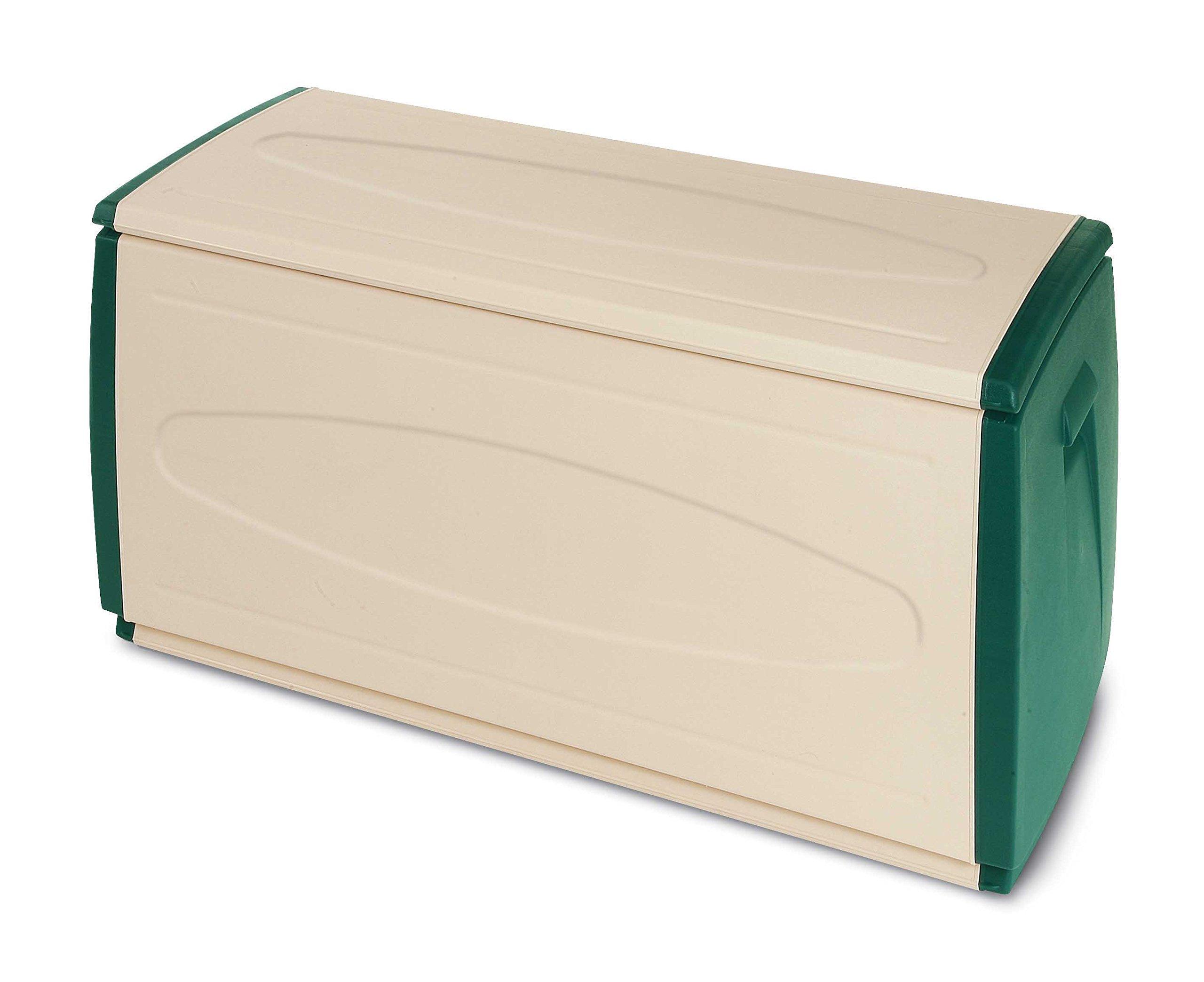 Terry Prince Box 120g Plastic Trunk/Storage Box, 120x 54x 57cm (Beige/Green)