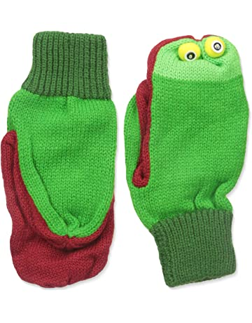 31ce70cc944 Kidorable Green Frog Soft Acrylic Knit Mittens w Fun Frog Puppet Mouth and  Eyes