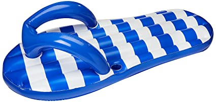07830c21d49 Image Unavailable. Image not available for. Color  Blue Wave Marine Blue  Flip Flop Inflatable Pool Float ...