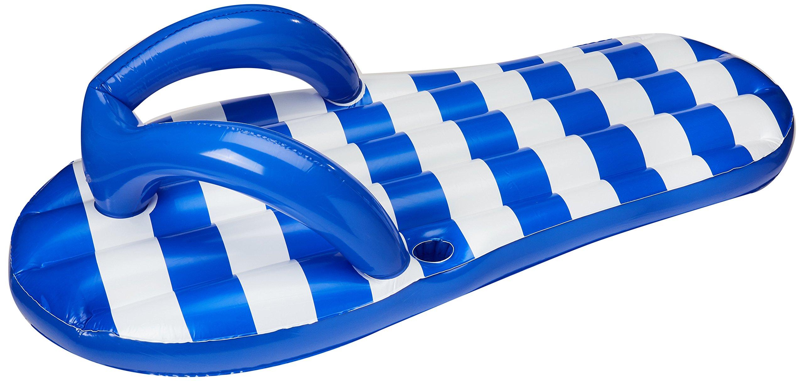 """Blue Wave Marine Blue Flip Flop Inflatable Pool Float, 71"""""""