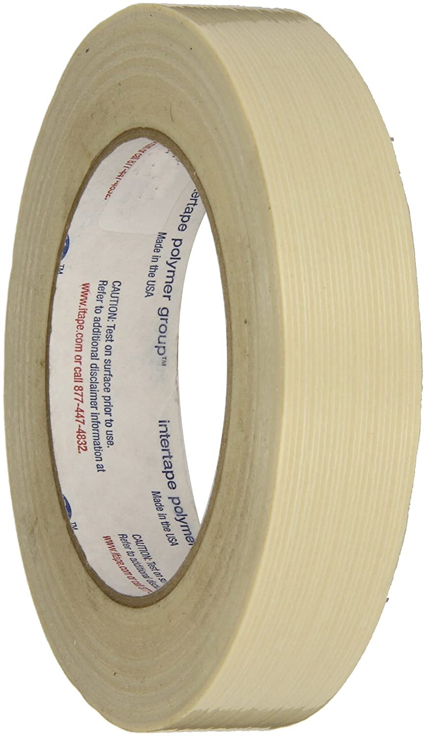 Intertape Polymer Group RG3 131lbs/in Fiberglass Reinforced Polyester Backed Filament Tape, 18mm X 54.8M (Case of 48 Rolls) by Intertape B009AFGL7M