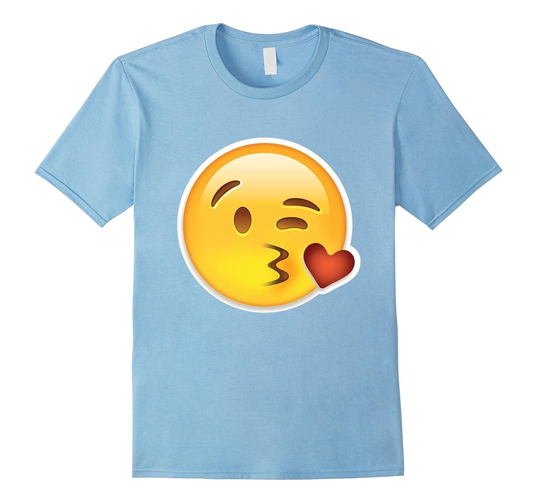 Kissy Face Emoji-Kiss Heart Wink Kissing Face tshirt-CL