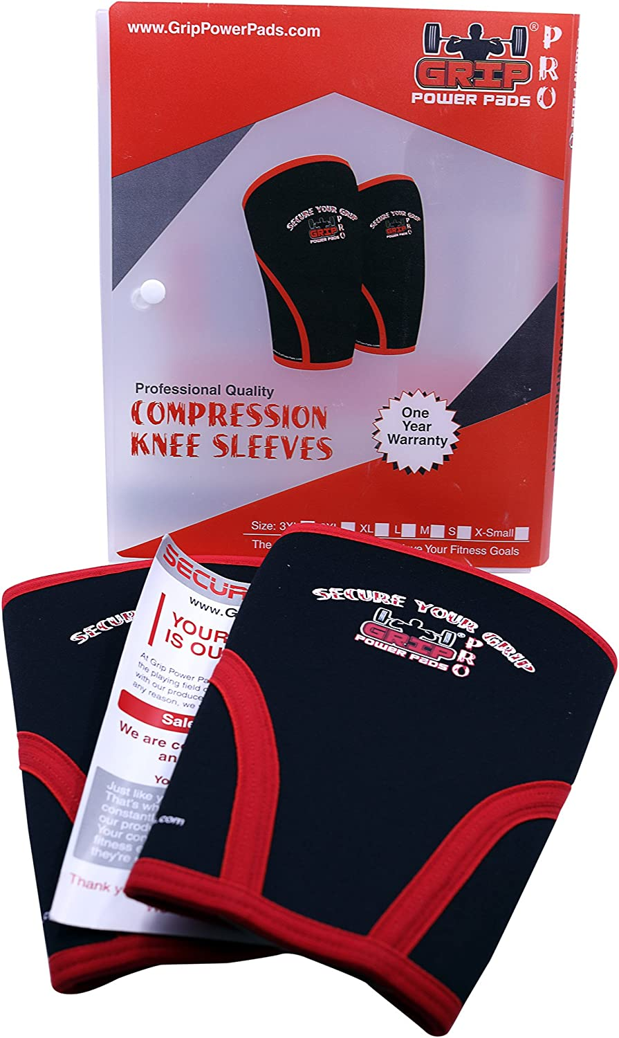 for Cross Training Squats Weightlifting Basketball Compression Braces 7mm Neoprene SOLD AS A PAIR of 2 Knee Sleeves