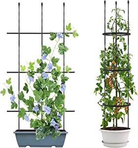 Esbaybulbs Plant Support Cages Tomatos Stake 1.2m Multi-fuction Garden Trellis for Climbing Plants, Vines, Flower, Vegetables and Potted Plants 2 Pack